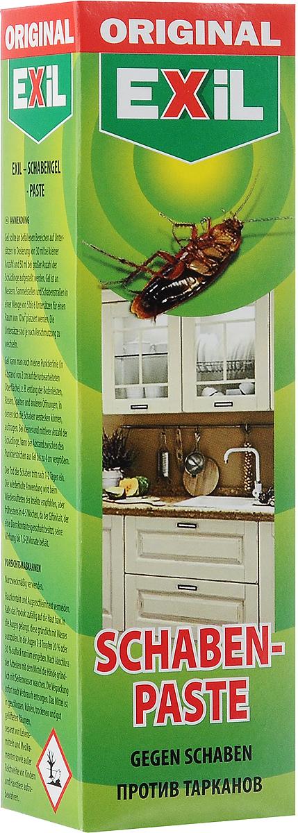 Гель от тараканов Exil Schaben-Paste, 75 г201004Гель EXIL Schaben Paste - это гарантированное уничтожение тараканов и других ползающих насекомых в квартирах, складах, гаражах, подъездах и других отапливаемых помещениях. Это эффективное и надежное средство для борьбы с тараканами. Простое и удобное применение - нанесите гель на подложки и через несколько дней просто уберите мертвых насекомых. Средство не имеет запаха. Действие геля сохраняется в течение длительного времени. Товар сертифицирован.