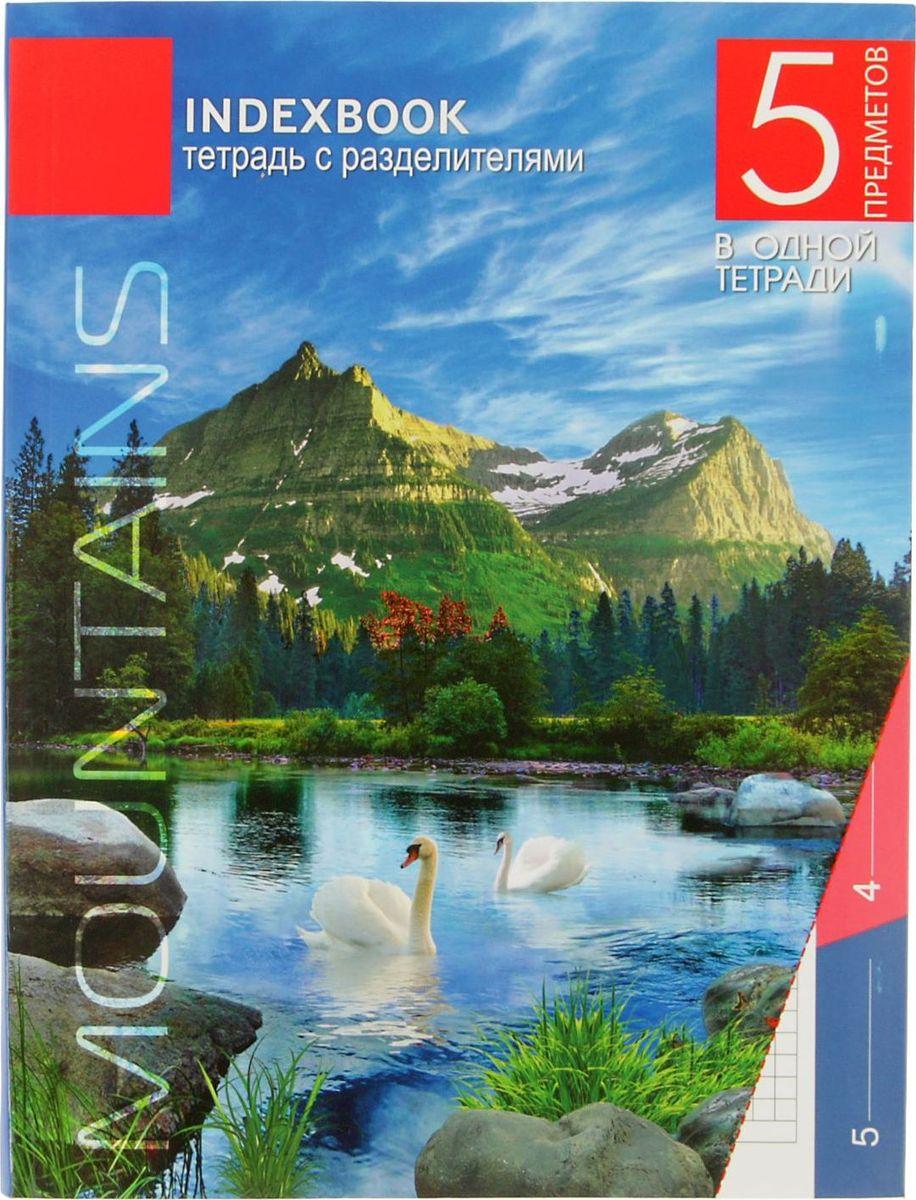 Апплика Тетрадь Горное озеро 128 листов в клетку2346701