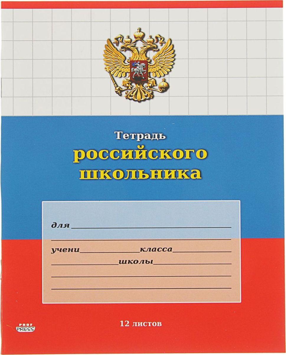 Проф-Пресс Тетрадь Российского школьника 12 листов в крупную клетку2371694