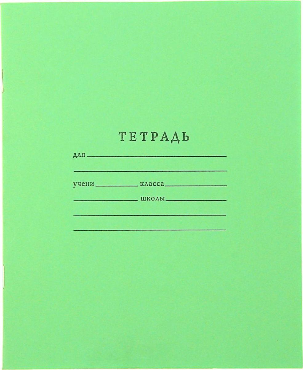 ТетраПром Тетрадь 18 листов в клетку цвет зеленый