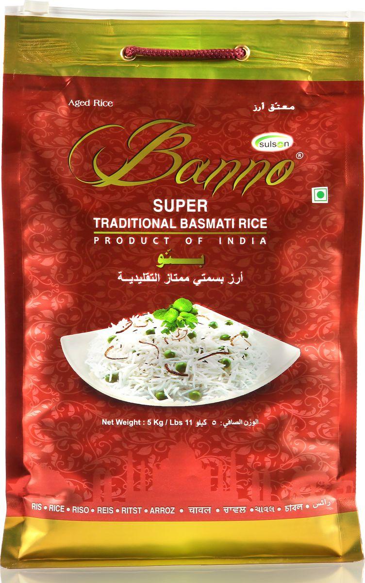 Banno Super Traditional басмати рис, 5 кгBSUT5Супер традиционный рис басмати со своеобразной пушистостью, выдержка риса 1 год, длина риса в приготовленном виде 15,42