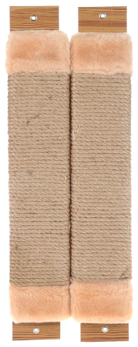 Когтеточка Неженка, угловая, с кошачьей мятой, цвет: бежевый, 54 х 20 х 2,5 см7201_бежевыйКогтеточка Неженка поможет сохранить мебель и ковры в доме от когтей вашего любимца, стремящегося удовлетворить свою естественную потребность точить когти. Основание изделия изготовлено из ДСП и обтянуто прочной тканью, а столб для точения когтей обтянут джутом. Товар продуман в мельчайших деталях и, несомненно, понравится вашей кошке. Всем кошкам необходимо стачивать когти. Когтеточка - один из самых необходимых аксессуаров для кошки. Для приучения к когтеточке можно натереть ее сухой валерьянкой или кошачьей мятой. Когтеточка поможет вашему любимцу стачивать когти и при этом не портить вашу мебель.