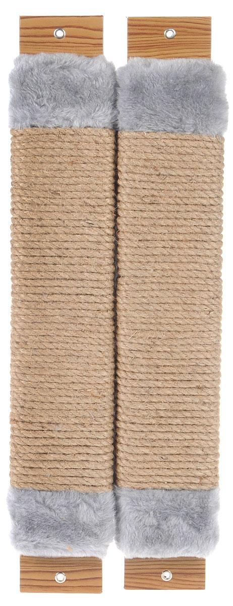 Когтеточка Неженка, угловая, с кошачьей мятой, цвет: серый, бежевый, 54 х 20 х 2,5 см7201_серыйКогтеточка Неженка поможет сохранить мебель и ковры в доме от когтей вашего любимца, стремящегося удовлетворить свою естественную потребность точить когти. Основание изделия изготовлено из ДСП и обтянуто прочной тканью, а столб для точения когтей обтянут джутом. Товар продуман в мельчайших деталях и, несомненно, понравится вашей кошке. Всем кошкам необходимо стачивать когти. Когтеточка - один из самых необходимых аксессуаров для кошки. Для приучения к когтеточке можно натереть ее сухой валерьянкой или кошачьей мятой. Когтеточка поможет вашему любимцу стачивать когти и при этом не портить вашу мебель.