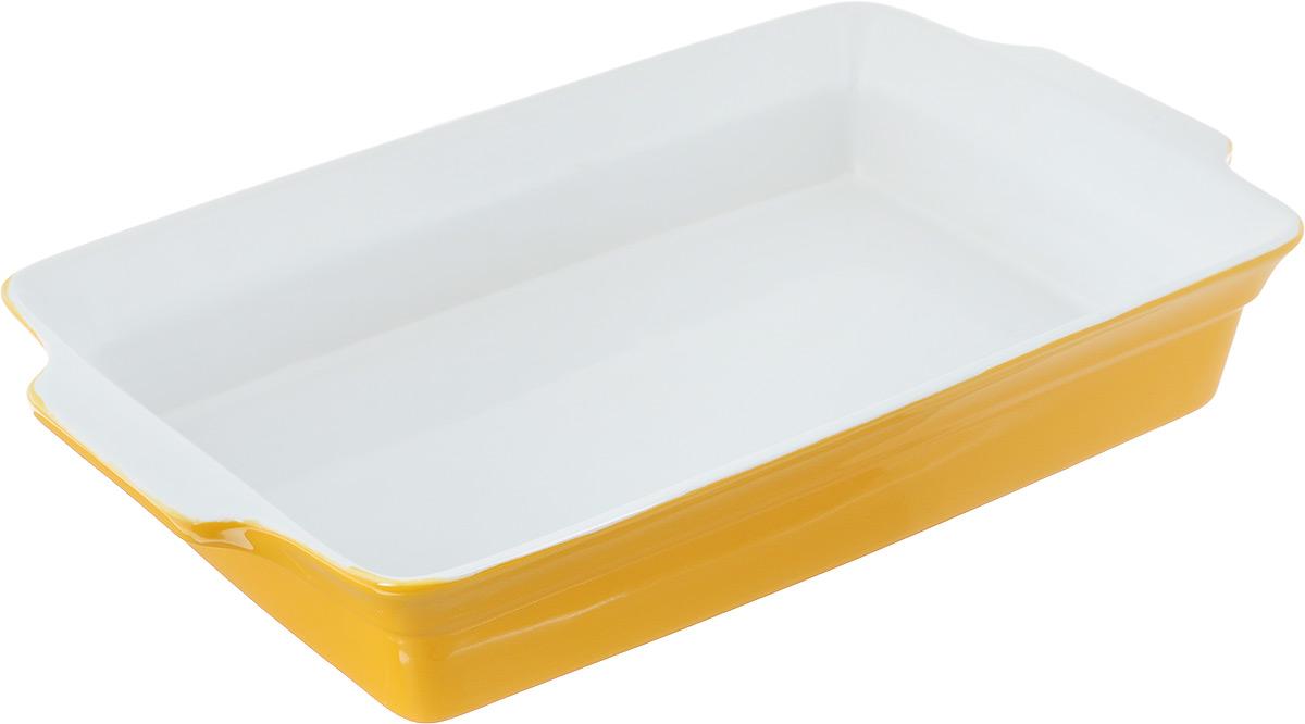 Форма для запекания Bohmann, прямоугольная, 37,5 х 22 х 6,5 см6412BHПрямоугольная форма для запекания Bohmann выполнена из керамики с глазурованным покрытием. Изделие оснащено удобными ручками. Пригодна для использования в микроволновых печах, морозильных камерах, духовках и для мытья в посудомоечной машине. Форма выдерживает температуру до 220°С.