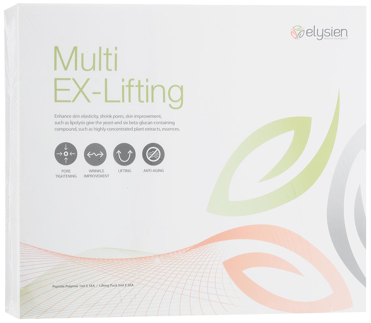 Elysien Multy EX-Lifting Мышечная маска, 0,38 гр766428Elysien Multy EX-Lifting - мышечная маска. Эффект: - Очищает и подтягивает поры, нейтрализует черные точки, обновляет и освежает кожу. - Выравнивает рельеф кожи, разглаживает уже имеющиеся морщинки. - Подтягивает кожу, обладает мощным лифтинг эффектом. - Анти-возрастной эффект, препятствует образованию новых морщин