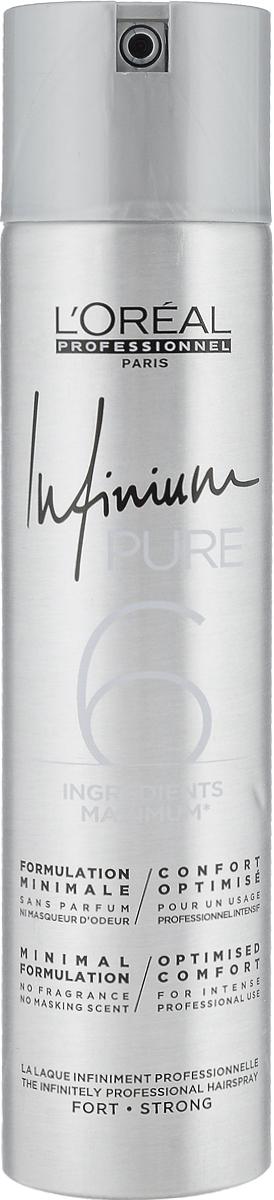 LOreal Professionnel Лак сильной фиксации (фикс.3) Infinium Pure Strong, 300 млE0575837_Pure StrongLOreal Professionnel Лак сильной фиксации (фикс.3) Infinium Pure Strong, 300 мл