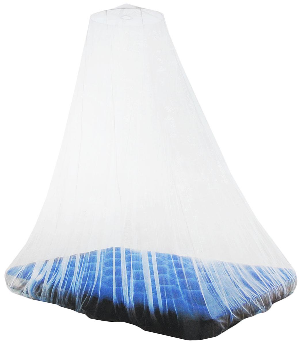 Сетка противомоскитная High Peak Savanne, цвет: белый, 220 х 200 х 250 см41510Противомоскитная сетка High Peak Savanne - непреодолимое препятствие для насекомых. Сетка изготовлена из 100% полиэстера. Крошечные ячейки пропускают воздух, но не оставляют ни малейшего шанса комарам и мошке. Их писк и укусы не потревожат ночной сон туриста. Сетка-балдахин оснащена каркасом, который крепится на высоте до двух метров. Полог заворачивается вокруг спального места. Легкой сетке найдется применение не только в походах. К примеру, она пригодится во время ночевки на даче. К тому же ее можно использовать как для односпальной, так и для двуспальной кровати в квартире. Диаметр каркаса: 60 см. Подходит для спального места 200 х 220 см.