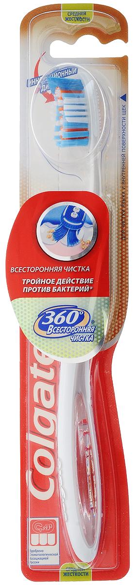 Colgate Зубная щетка 360° Всесторонняя чистка, средней жесткости, цвет: розовыйFCN21457_розовыйColgate Зубная щетка 360° Всесторонняя чистка, средней жесткости, цвет: розовый