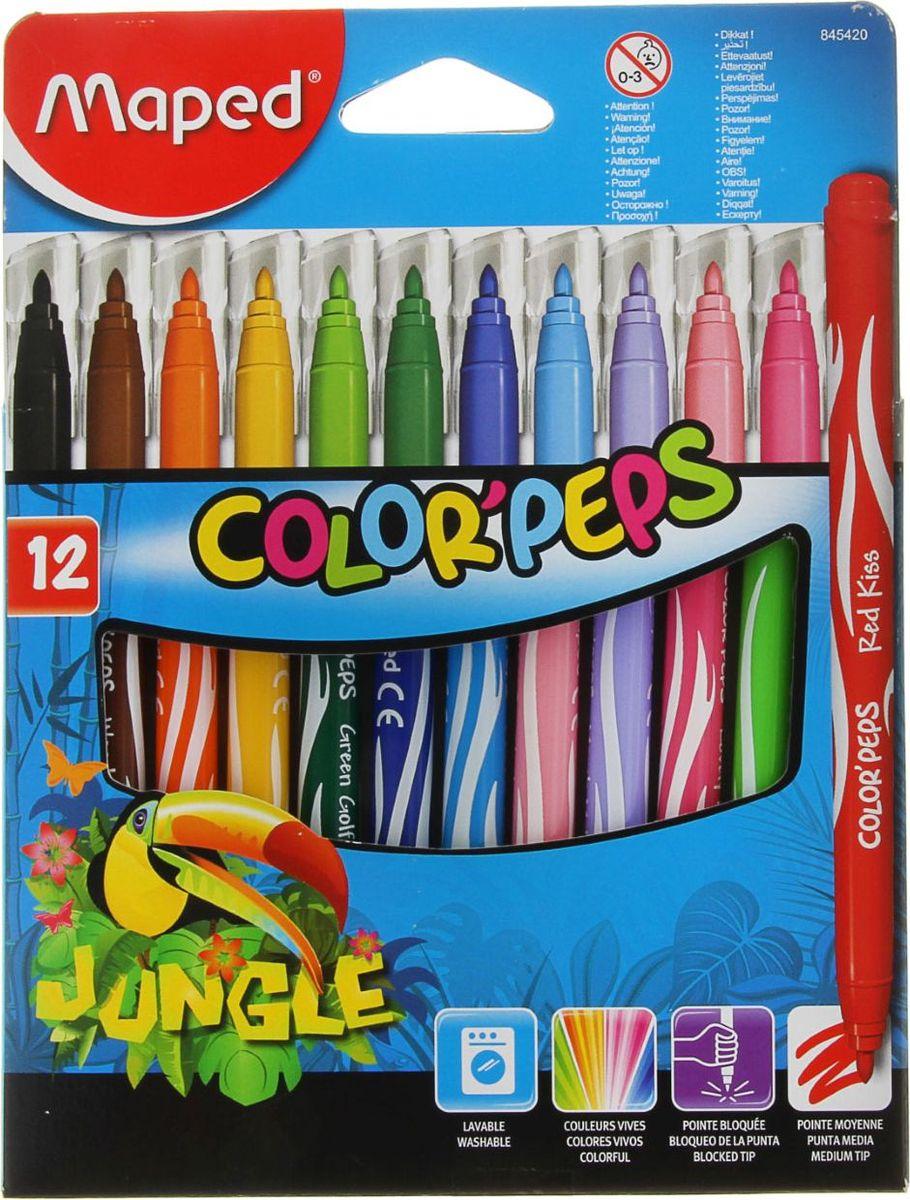 Maped Набор фломастеров Jungle смываемые 12 цветов1040807