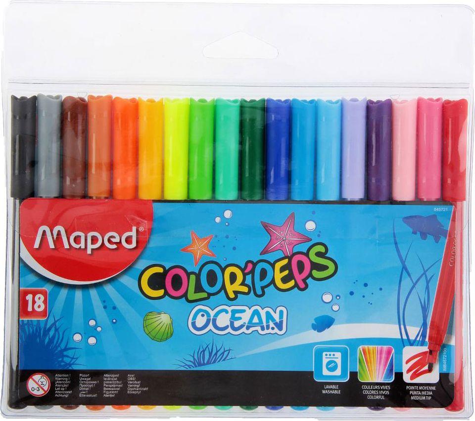 Maped Набор фломастеров ColorPeps Ocean смываемые 18 цветов1223773