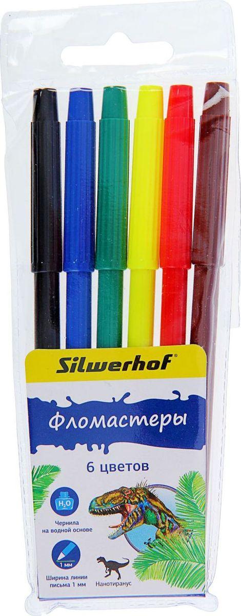 Silwerhof Набор фломастеров Динозавры 6 цветов1384624