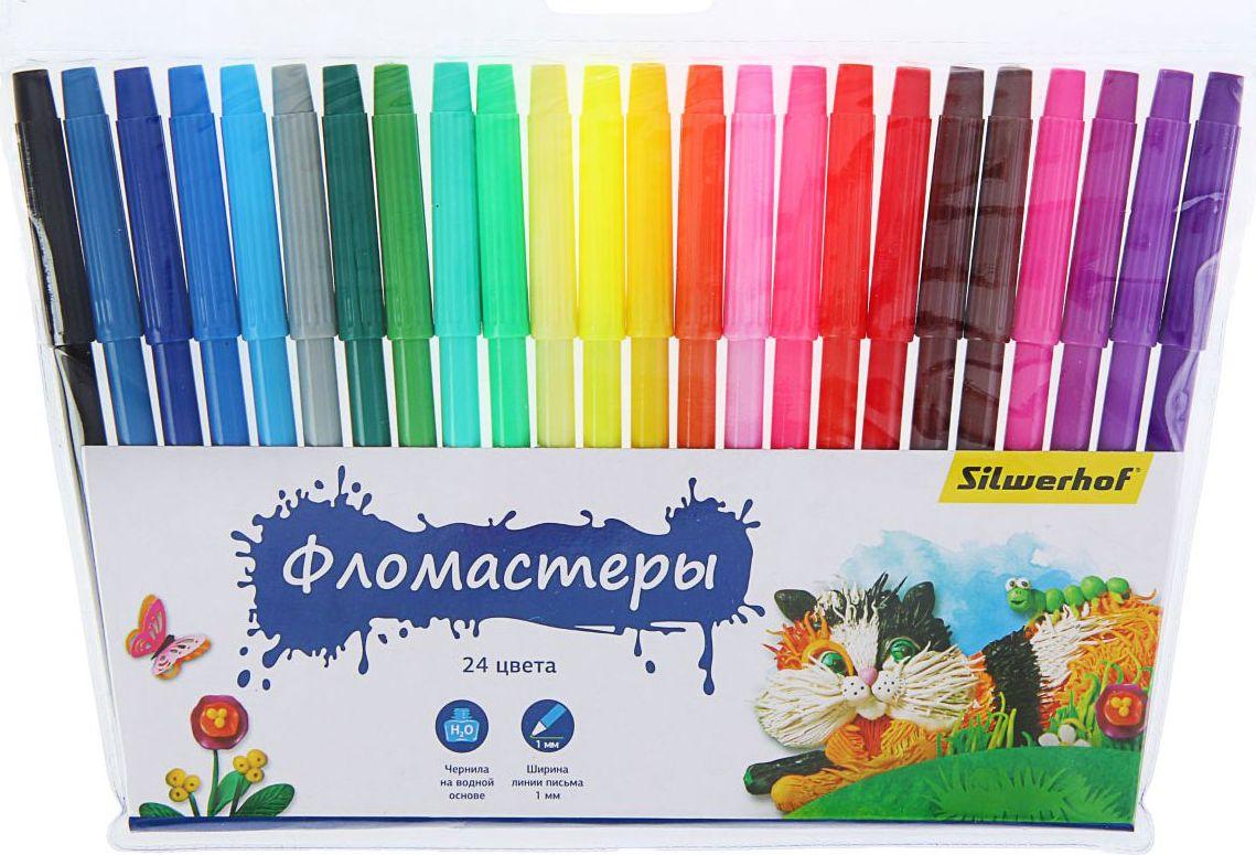 Silwerhof Набор фломастеров Пластилиновая коллекция 24 цвета1384633