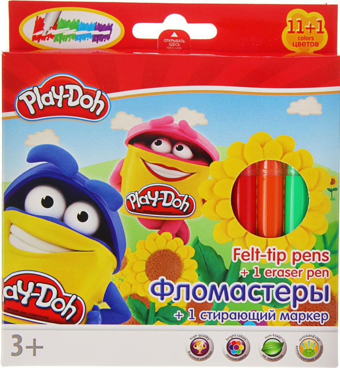 Play-Doh Набор фломастеров со стирающим маркером 12 цветов1397540