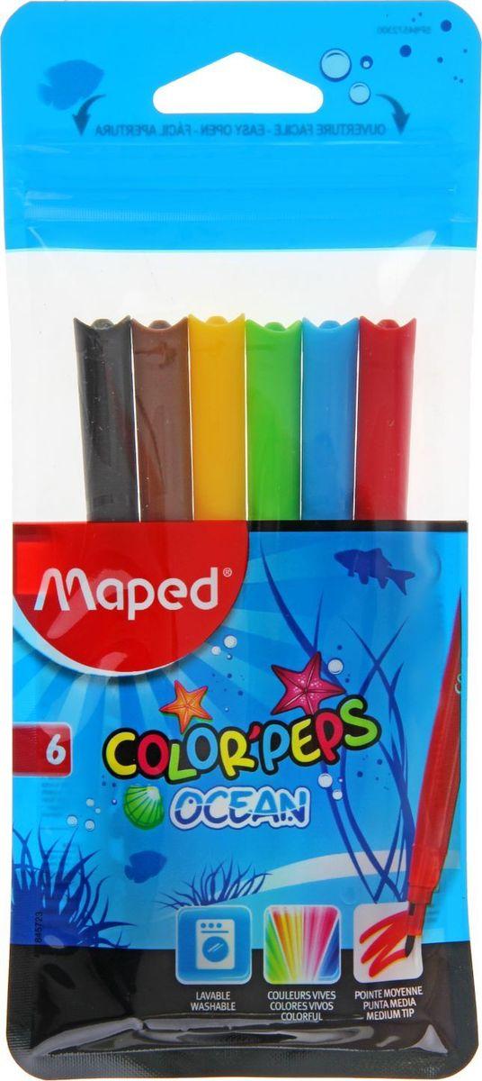 Maped Набор фломастеров ColorPeps Ocean смываемые 6 цветов1418747