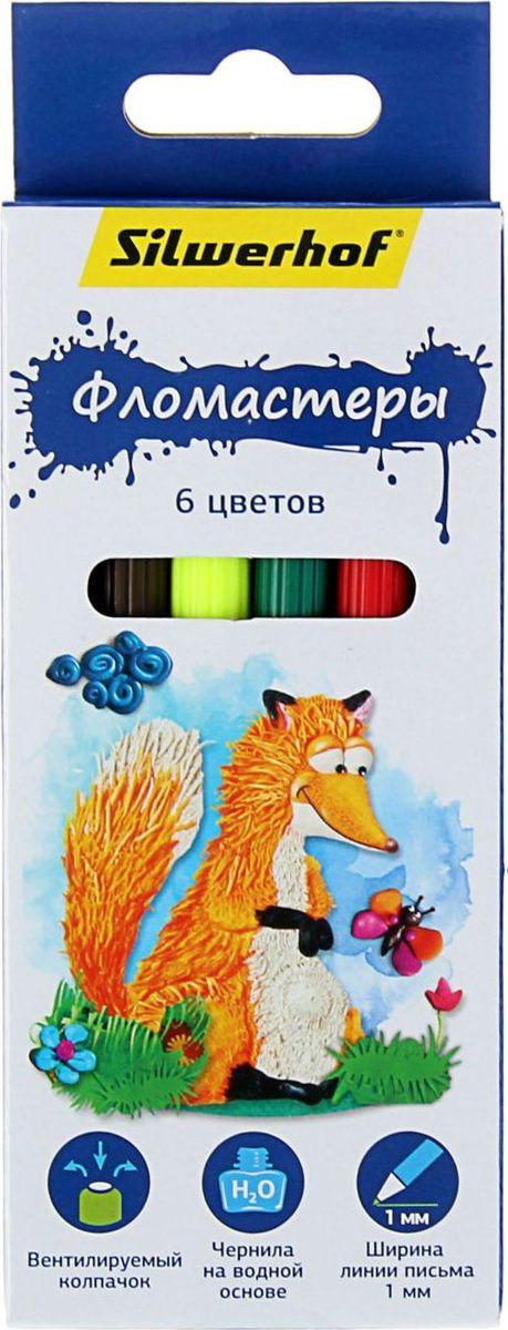 Silwerhof Набор фломастеров Пластилиновая коллекция 6 цветов1430581