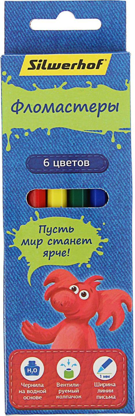 Silwerhof Набор фломастеров Джинсовая коллекция 6 цветов1492391