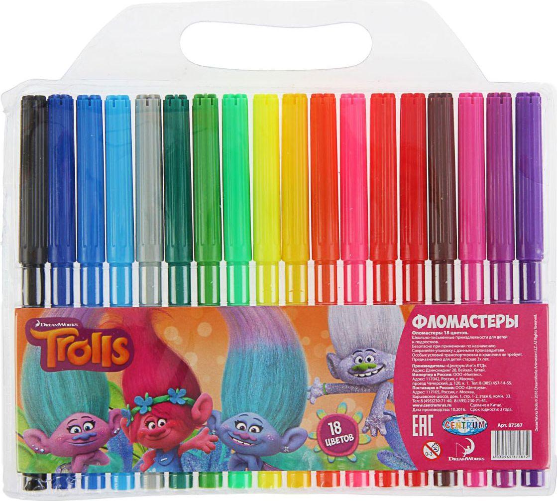Trolls Набор фломастеров морозостойкие 18 цветов1802682