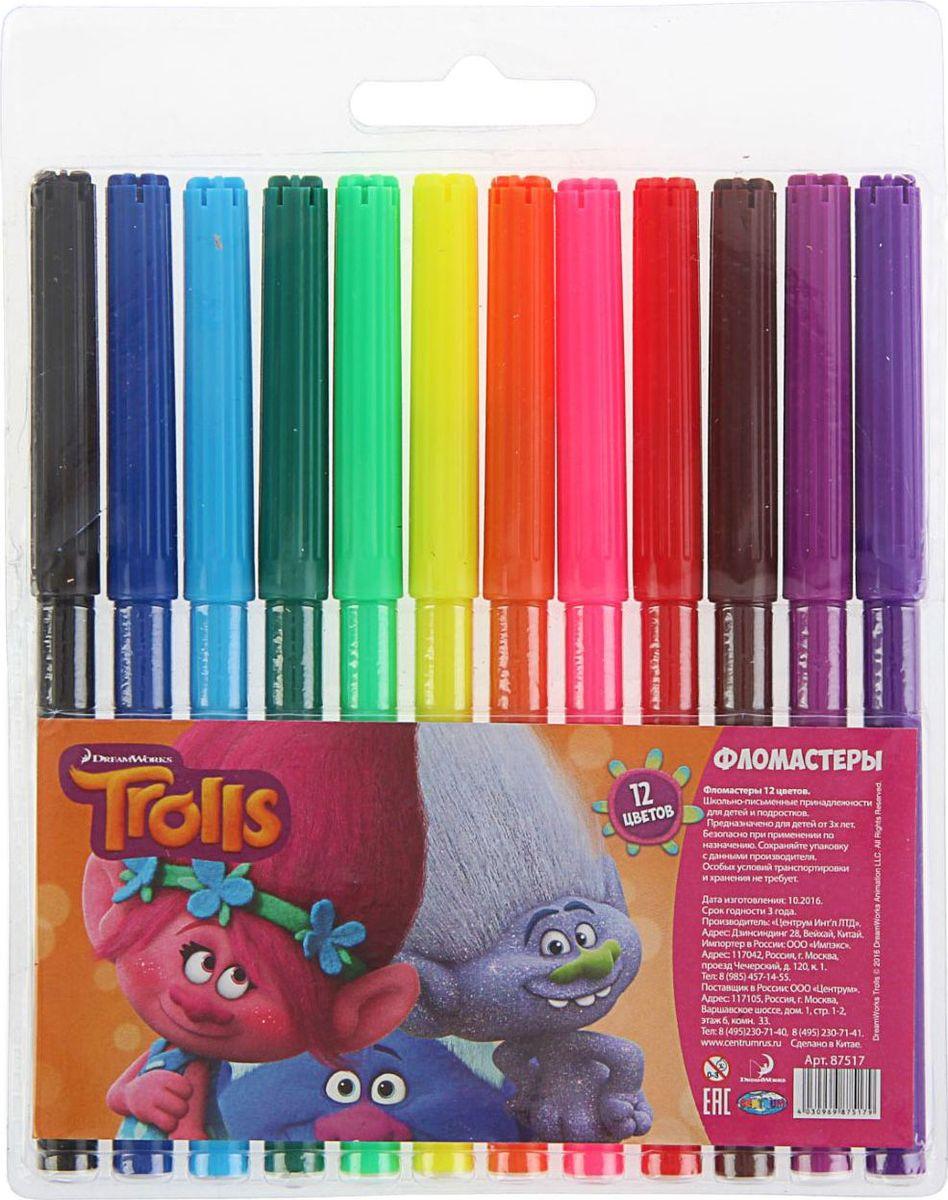 Trolls Набор фломастеров морозостойкие 12 цветов1802683