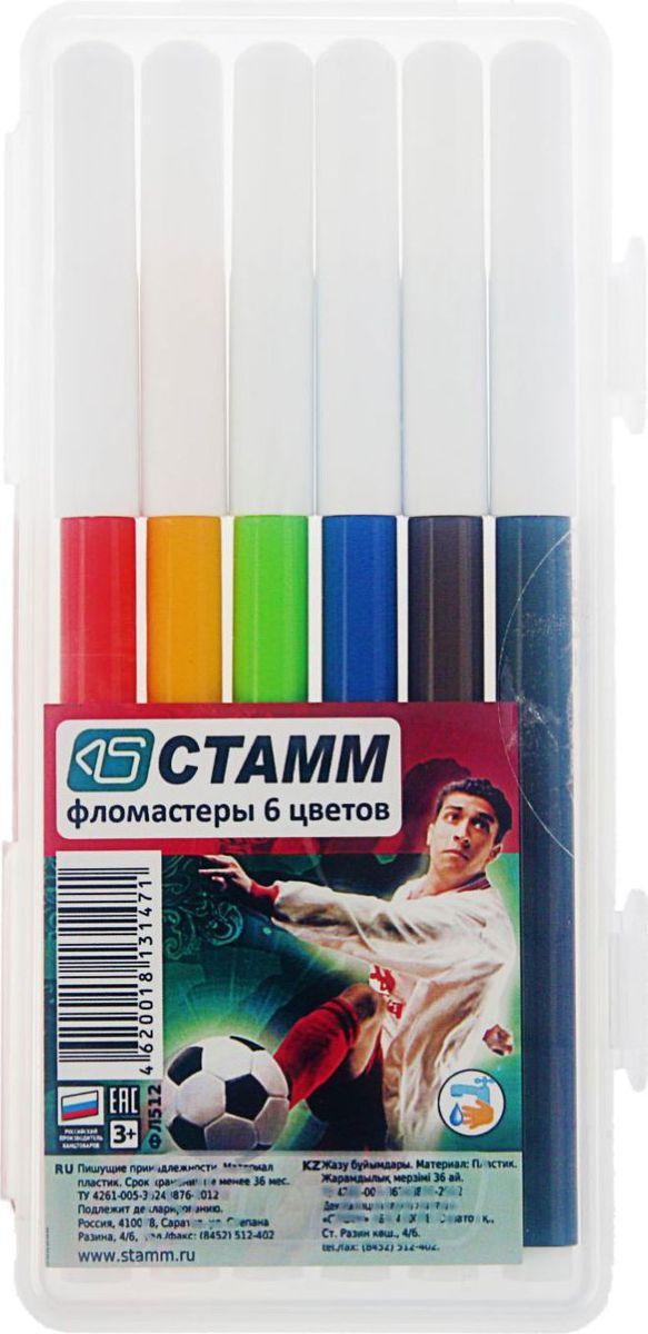 Стамм Набор фломастеров Футбол 6 цветов2187690