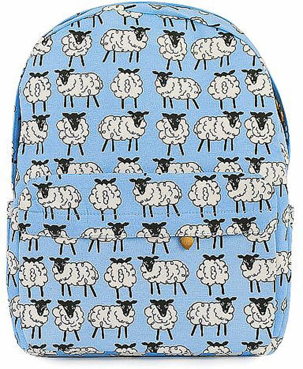 Рюкзак женский Kawaii Factory Овечки, цвет: голубой, белый. KW102-000319KW102-000319