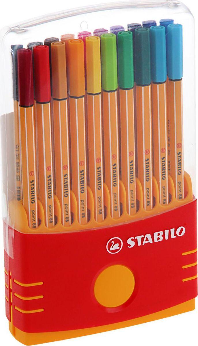 Stabilo Набор капиллярных ручек Point 88 20 цветов1320645