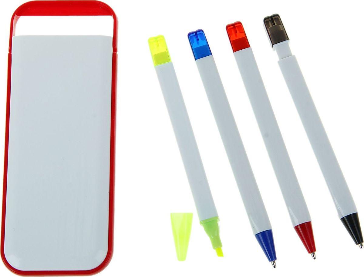 Набор шариковых ручек с маркером и карандашом 2 шт160184Наборы с логотипом — это прекрасная реклама и средство привлечения клиентов. Многие компании давно пользуются этим доступным и быстрым способом заявить о себе. Вы тоже ищете канцелярские наборы под логотип? Набор в пластик футляре белый с красным кантом: ручки шариковые 2шт, маркер, карандаш идеально подходит для осуществления этой цели. Оригинальный набор дополнит и подчеркнет статус вашей компании, а использовать его будет легко. Ассоциируйте бизнес только с лучшей канцелярией, и клиенты это обязательно оценят.