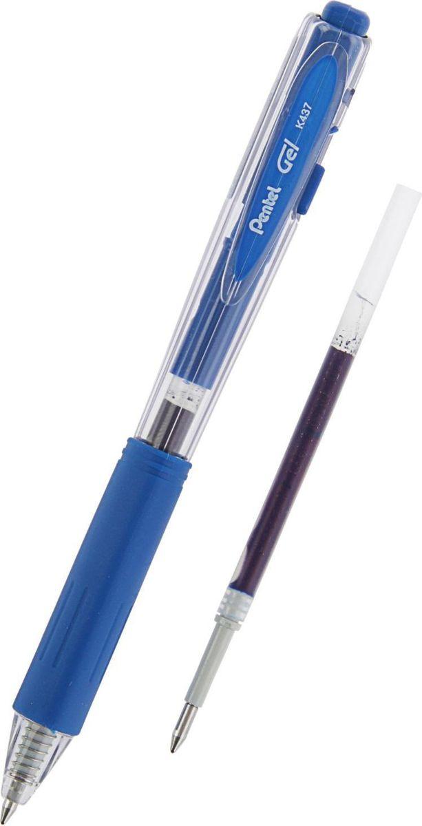 Pentel Ручка гелевая Wow Gel с дополнительным стержнем синяя2152071