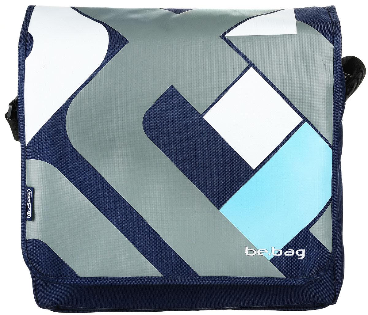 Herlitz Сумка школьная Be Bag Crossing 1143766211437662Прочная и вместительная школьная сумка Herlitz Be Bag. Crossing смотрится элегантно в любой ситуации. Сумка имеет одно отделение на молнии, которое закрывается сверху откидывающимся клапаном на липучке. Внутри отделения находятся мягкая перегородка, ограничивающая пространство для ноутбука или планшета, и два открытых сетчатых кармана. Спереди сумки расположен карман на молнии, содержащий сетчатый карман, небольшой карман на молнии, кармашек с мягкой подкладкой для мобильного телефона и карабин для ключей. Сзади расположен наружный карман на молнии. Широкая лямка регулируется по длине. Такую сумку можно использовать для повседневных прогулок, учебы, отдыха и спорта, а также как элемент вашего имиджа. Лаконичный и сдержанный дизайн подчеркнет индивидуальность и порадует своей функциональностью.