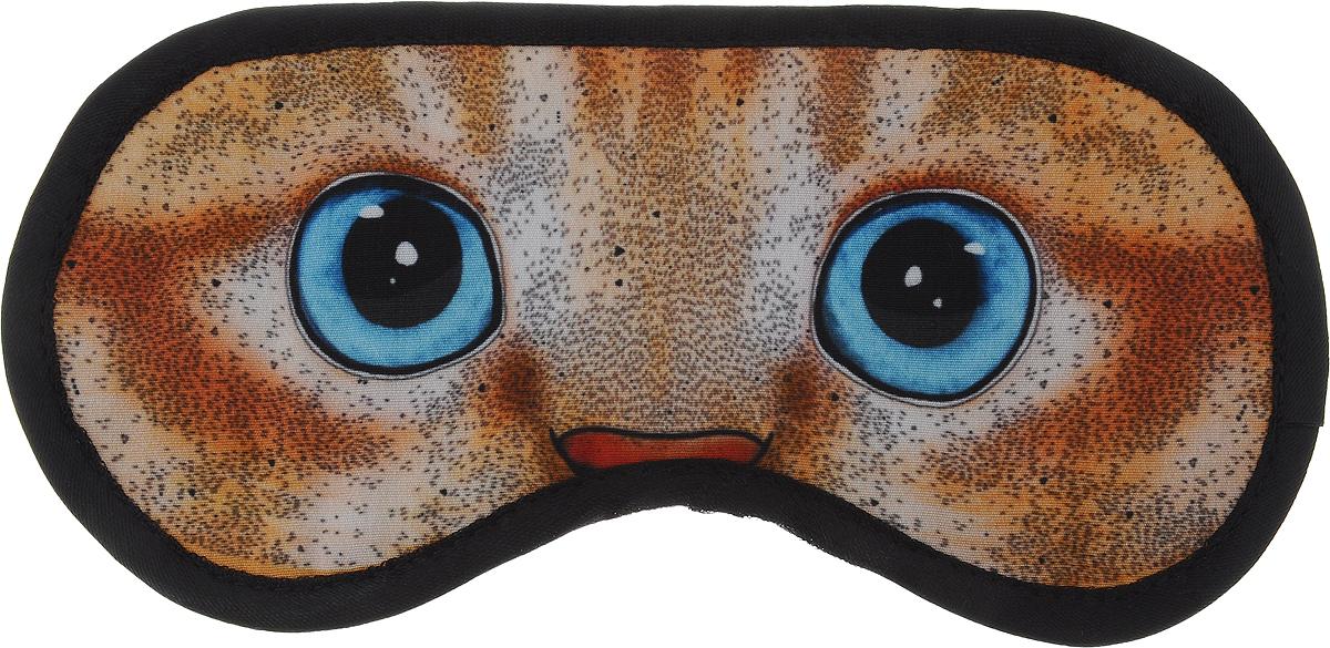 Маска для глаз Kawaii Factory Котенок, цвет: оранжевый, голубой. KW086-000906KW086-000906