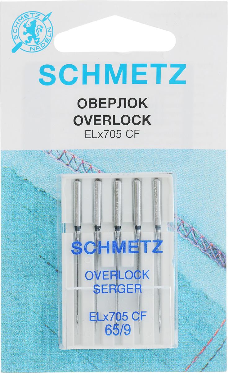 Иглы для плоскошовных машин Schmetz, хромированные, № 65, 5 шт22:40.1.VJSИглы для бытовых швейных машин всех марок