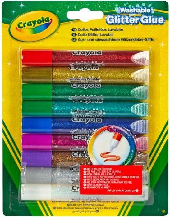 Crayola Клей с блестками 9 цветов