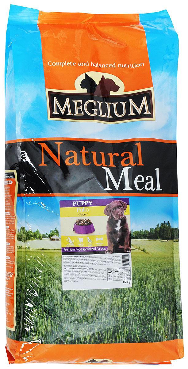 Корм сухой Meglium для щенков, 15 кгMS1715Сбалансированный корм, обеспечивающий здоровый рост и развитие щенка. Содержит высокопитательный животный белок, жизненноважные витамины и минералы. Обогащен Омега-3 жирными кислотами. Для щенков от 2 до 13 месяцев.