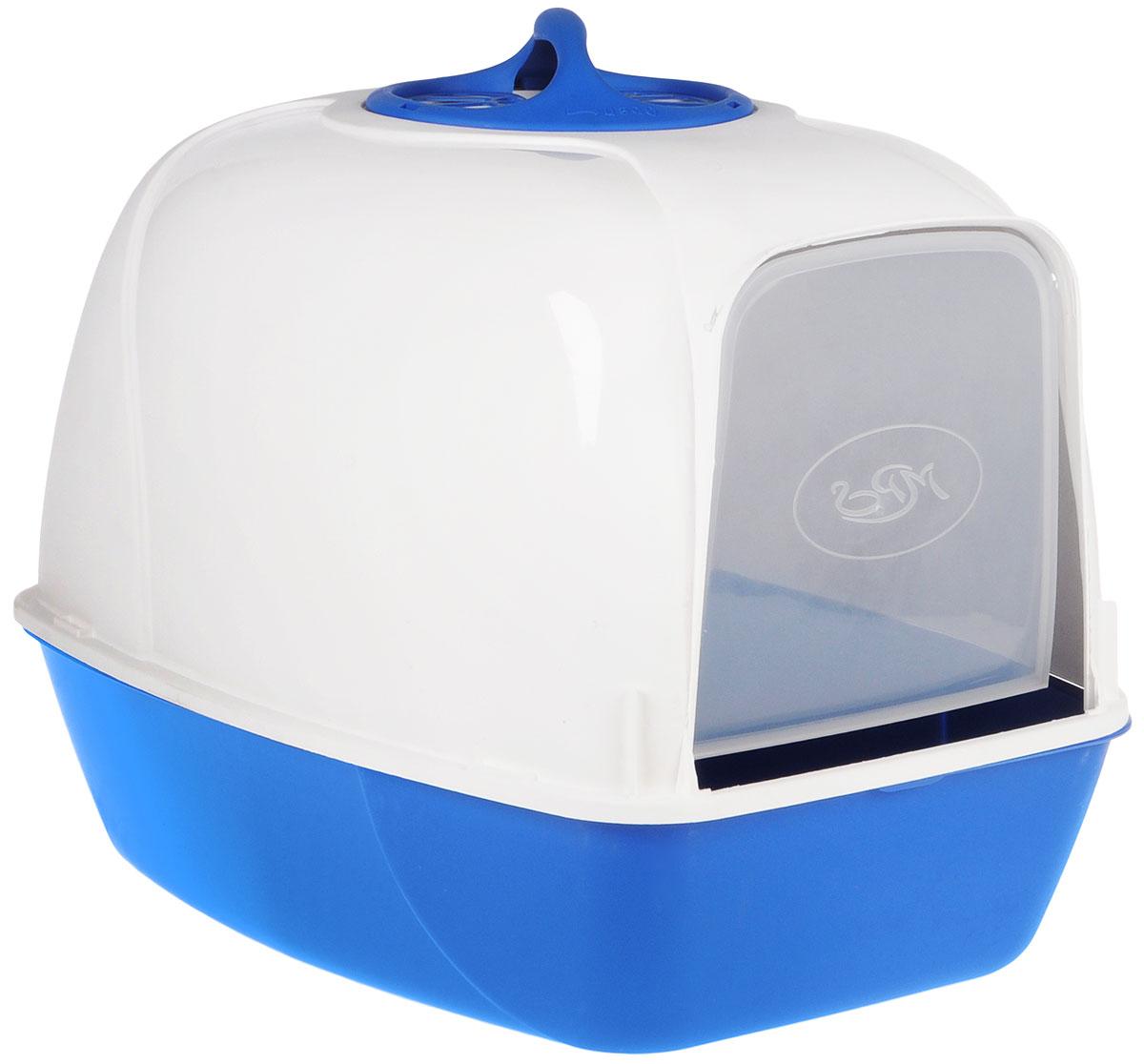 """Био-туалет для кошек MPS """"Pixi"""", цвет: белый, бирюзовый S07010103"""