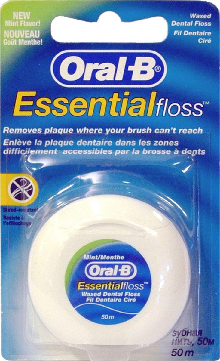 Oral-B Зубная нить Essential floss невощеная 50 м