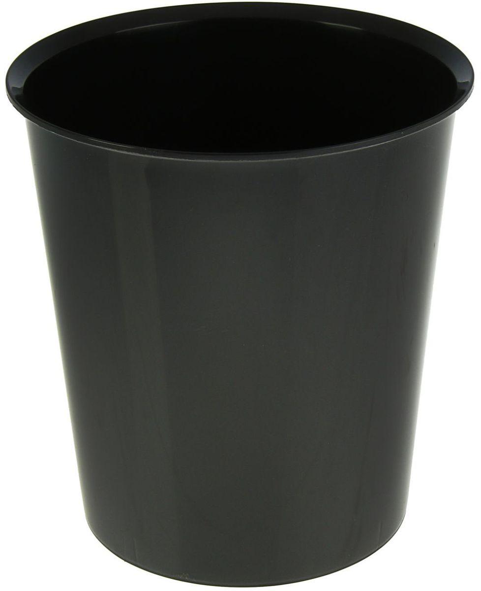 Стамм Корзина для бумаг 14 л цвет черный