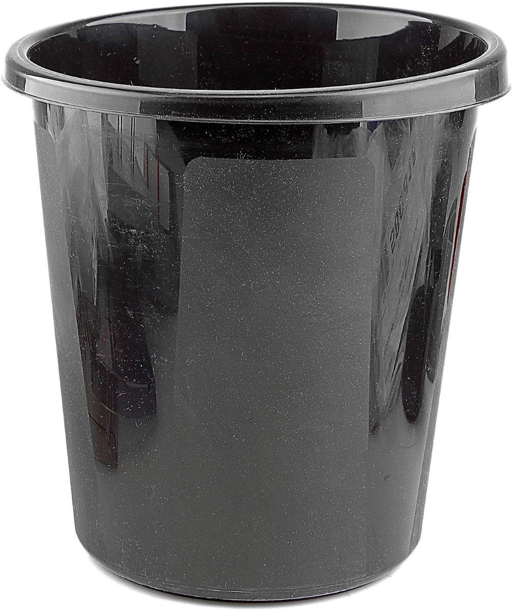 Корзина для бумаг 9 л цвет черный 580825