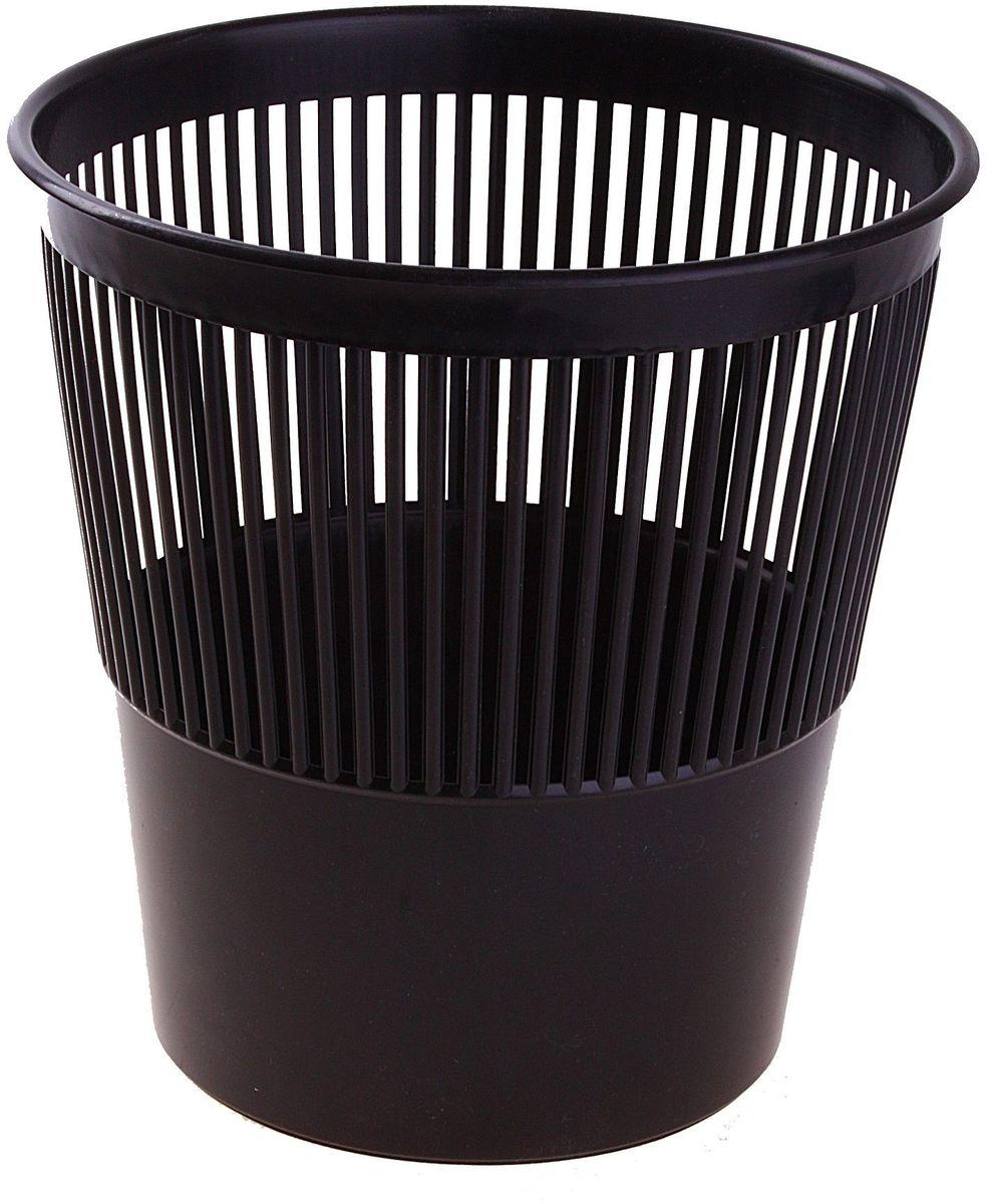 Корзина для бумаг 9 л цвет черный