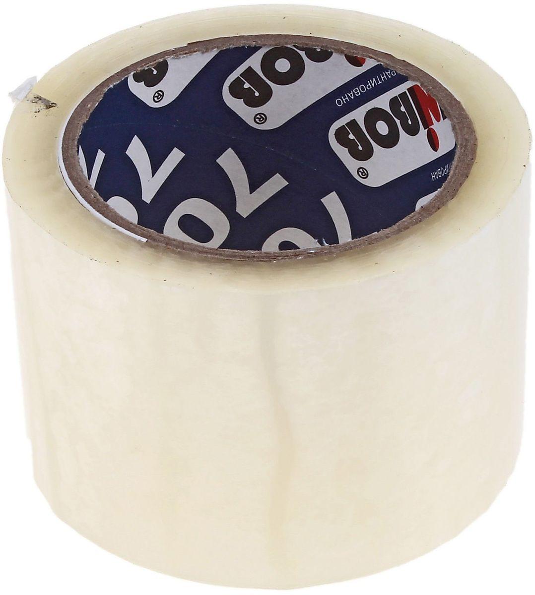 Клейкая лента 72 мм х 66 м цвет прозрачный 691941691941Клейкая лента на полипропиленовой основе это водонепроницаемое изделие, которое способно противостоять широкому диапазону температур. Применяется в быту для упаковки: легких и тяжелых коробок, изготовленных из гофрокартона, строительных смесей, масложировой продукции и мороженого, канцелярских товаров, промышленных товаров. Клейкая лента поможет скрепить предметы в любой ситуации, например, если вы делаете ремонт или меняете место жительства и пакуете коробки.