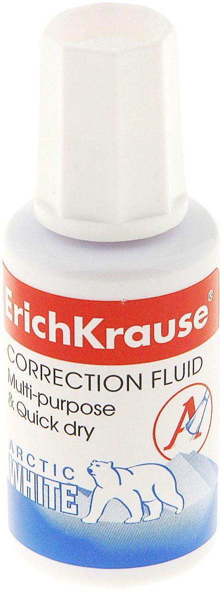Erich Krause Корректирующая жидкость Arctic White 20 мл789527В пластиковом флаконе с кисточкой. Быстровысыхающая, на химической основе. Не требует добавления растворителя. Обладает высокой степенью белизны. Объем 20 мл.