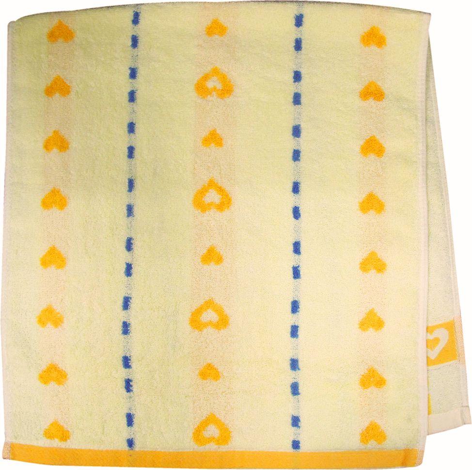 Полотенце махровое НВ Магнит, цвет: желтый, 40 х 90 см. м0737_0685194