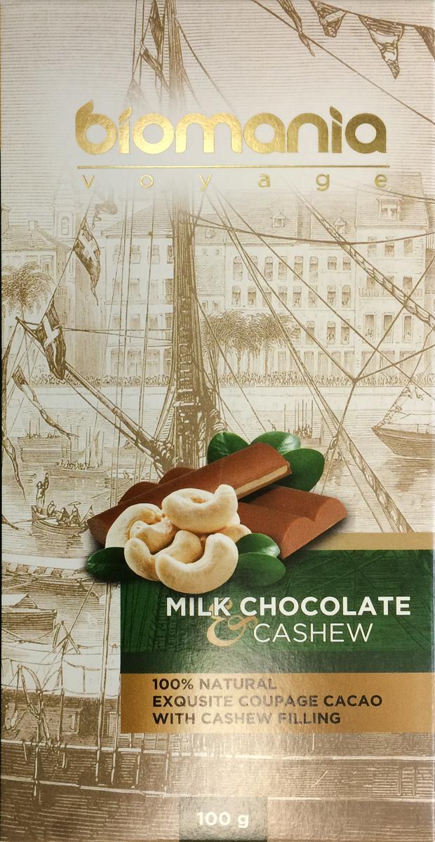"""Biomania """"Voyage"""" молочный шоколад с урбечом из кешью, 100 г 00-00000018"""