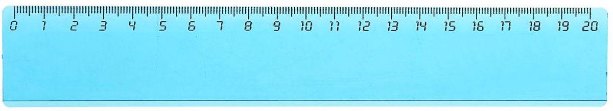 Стамм Линейка 20 см цвет голубой1382707