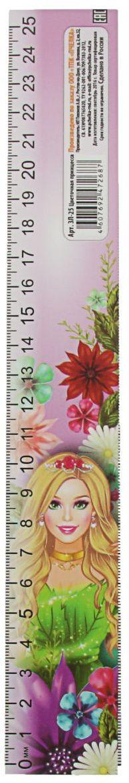 ТПК Пчелка Линейка-закладка Цветочная принцесса 25 см2135853
