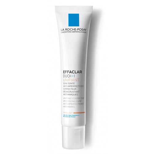 La Roche-Posay Effaclar Duo+Тонирующий Светлый 40 млM9114500Тонирующий уход Effaclar DUO(+) для проблемной кожи с выраженными несовершенствами, остаточными следами (постакне) мгновенно корректирует несовершенства и постакне в виде красных и темных пятен. Тон кожи выровнен без эффекта маски. Некомедогенно. Воздействие: • Мгновенно выравнивает тон кожи • Сокращает выраженные несовершенства • Корректирует и предотвращает появление постакне • Снижает выработку кожного сала • Эффективен через 24 часа после первого применения Эффективность: Через 8 дней: несовершенства значительно сокращаются*. Через 4 недели: поры очищены, поверхность кожи выравнена, жирный блеск уменьшается**