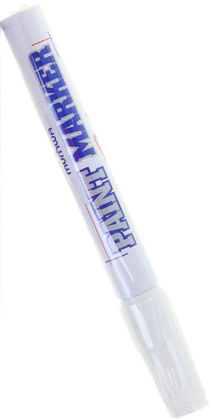 Munhwa Маркер-краска цвет белый1110981Краска великолепно пишет по любому типу поверхности: бумаге, дереву, пластику, металлу, натуральному и искусственному камню, стеклу. Маркер-краска морозоустойчива, не выгорает на солнце, может писать по горячей (до 130 градусов) или загрязненной, в том числе и маслами, поверхности. Благодаря дозированной подаче краски при помощи клапанного пишущего узла исключаются растекания, неровности линии и преждевременное пересыхание. Богатая цветовая палитра краски на нитро-основе, длительный срок годности — 5лет.