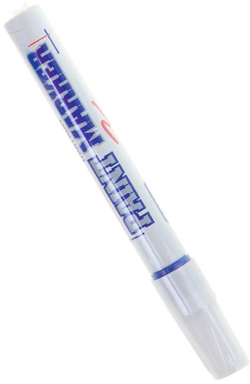 Munhwa Маркер-краска цвет синий1110984Краска великолепно пишет по любому типу поверхности: бумаге, дереву, пластику, металлу, натуральному и искусственному камню, стеклу. Маркер-краска морозоустойчива, не выгорает на солнце, может писать по горячей (до 130 градусов) или загрязненной, в том числе и маслами, поверхности. Благодаря дозированной подаче краски при помощи клапанного пишущего узла исключаются растекания, неровности линии и преждевременное пересыхание. Богатая цветовая палитра краски на нитро-основе, длительный срок годности — 5лет.