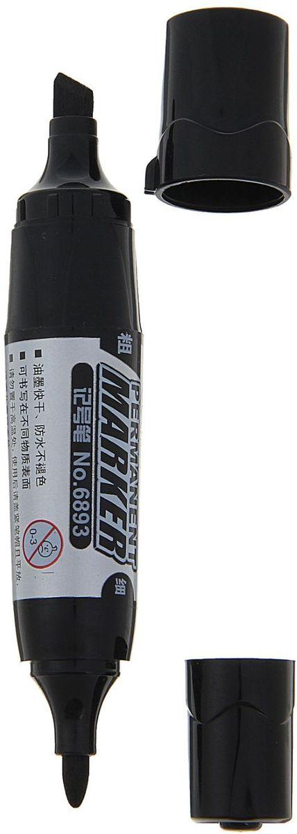 Deli Маркер перманентный двусторонний цвет черный1272942