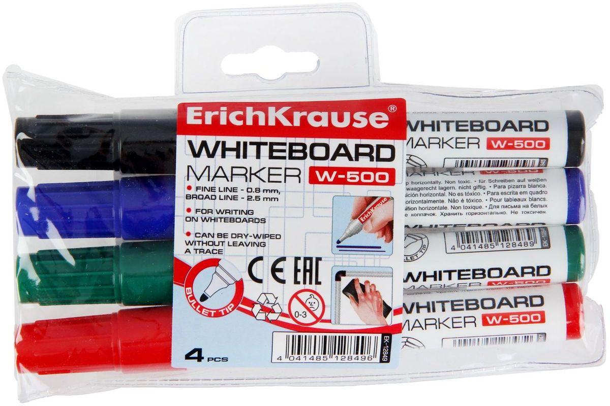 Erich Krause Набор маркеров для доски W-500 4 цвета1282546