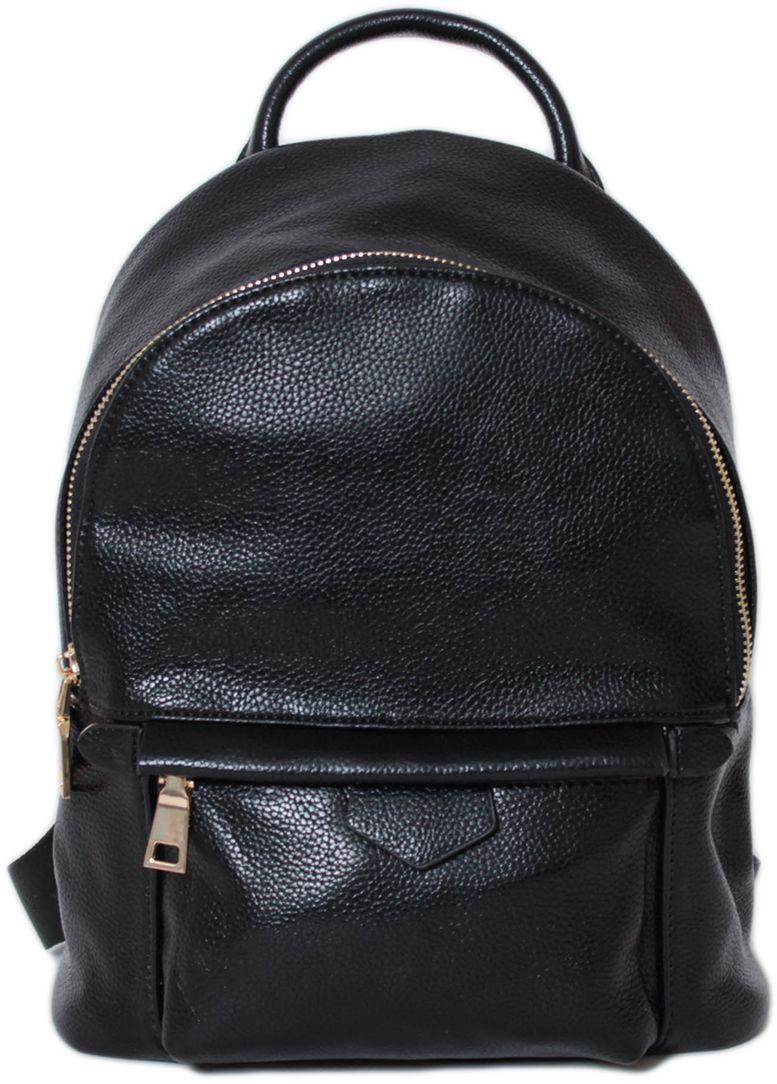 Рюкзак женский Flioraj, цвет: черный. 21382138 blackЗакрывается на молнию. Внутри одно отделение и два кармана на молнии. Снаружи два кармана на молнии. Высота ручки 5 см.