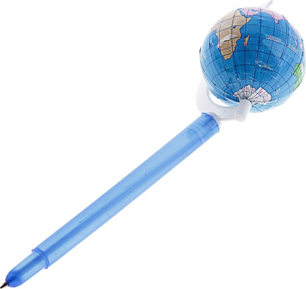 Ручка шариковая Глобус на подставке синяя102548Ручка-прикол – отличный подарок для детей и взрослых. Ручка шариковая-прикол Глобус на подставке поможет разбавить будничную рутину своим ярким и забавным дизайном. Создайте себе и всем вокруг хорошее настроение с помощью этого аксессуара, он не останется незамеченным!